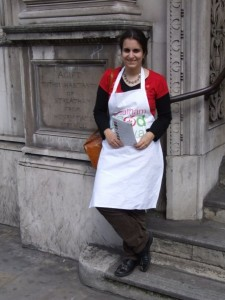Eleonora outside the Fine Chocolate Masterclass. photo: Danny Hewitt